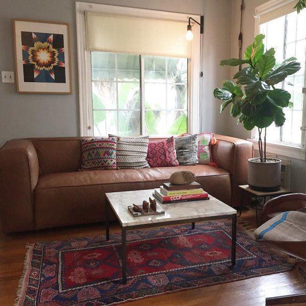 Lenyx Overstuffed Leather Sofa