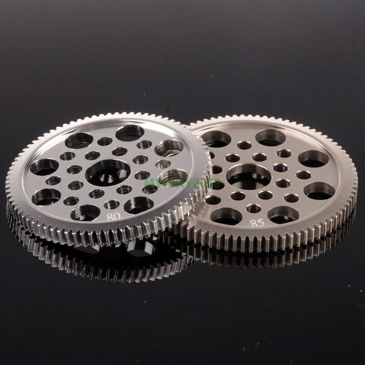Металл 48 P цилиндрическое зубчатое колесо 80 т и 85 т 7075 для 1/10 RC 3 Racing Sakura D3 CS S си XIS дрейф автомобиль