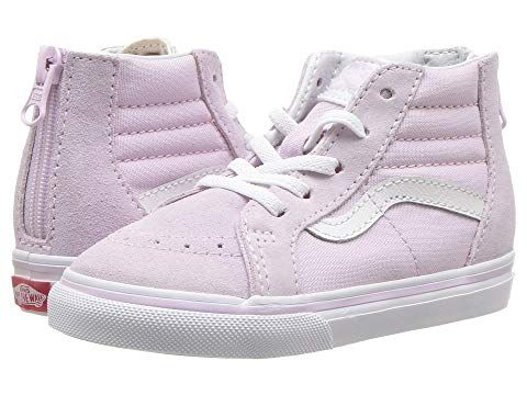 costo seré fuerte Pasteles  Vans Kids Sk8-Hi Zip (Infant/Toddler) | Vans kids, Shoe size chart kids,  Toddler girl shoes