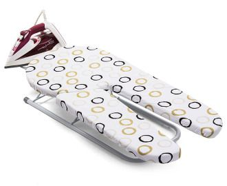 Revolutionary Split Tabletop Ironing Board - White.  There's a cute idea for ironing trousers and slacks!!!!!!!