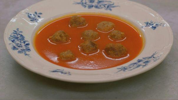 Eén - Dagelijkse kost - tomatensoep met (veel) balletjes
