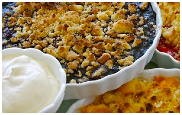 Easy Crumble Pie #recipe #Glutenfree flours available from @GoodnessDirect #coeliac #glutenfri #blueberries