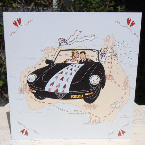 Een trouwkaartje! in Australische sfeer
