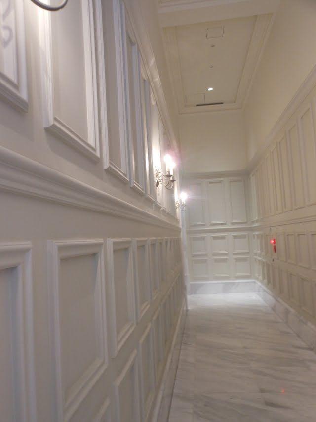140 best images about decoraci n de paredes on pinterest - Pasillos con zocalo ...