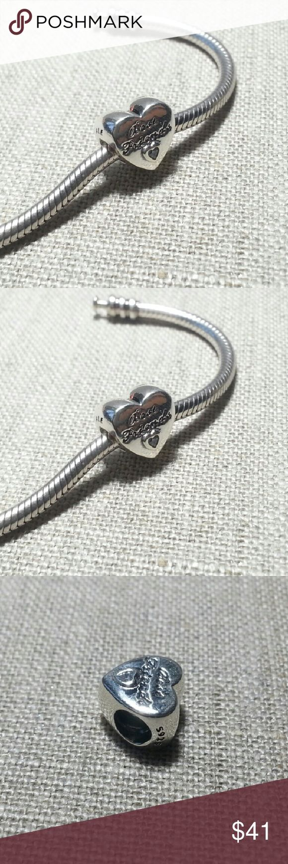 Pandora friendship heart charm 791727CZ Pandora Charm friendship heart 791727CZ  Autumn 2016 collection  Sterling silver New and never used % 100 authentic  S925/ale hallmark stamps on it  Official Pandora foldable cartoon box tissue and sticker included with purchase  Enjoy shopping Jewelry Bracelets