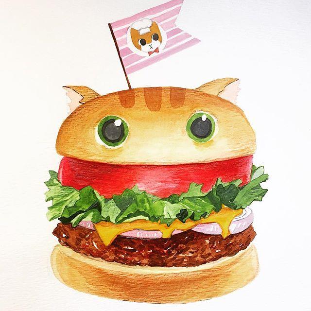 Daily drawing | Day 124  .  Inspired by the mickey mouse shaped burger I had at Tokyo Disneyland years ago 🍔 .  .    예전에 도쿄 디즈니랜드 갔을 때 미키 마우스 모양의 햄버거에 감동을 받은 기억이 ...ㅋㅋㅋ