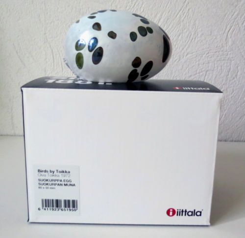 Iittala-OIVA-TOIKKA-Art-Glass-Egg-Suokurppa-Egg-New-In-Box