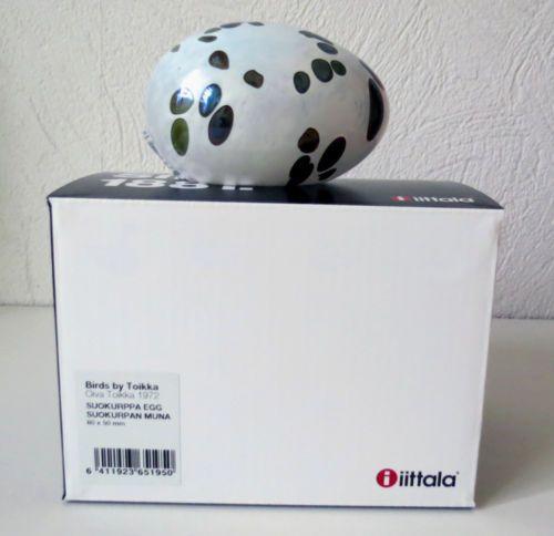 Iittala-OIVA-TOIKKA-Art-Glass-Egg-Suokurppa-Egg-New-In-Box