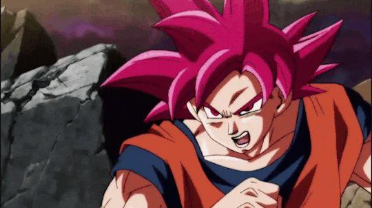 SSJG to SSJGSS Goku v Dyspo.
