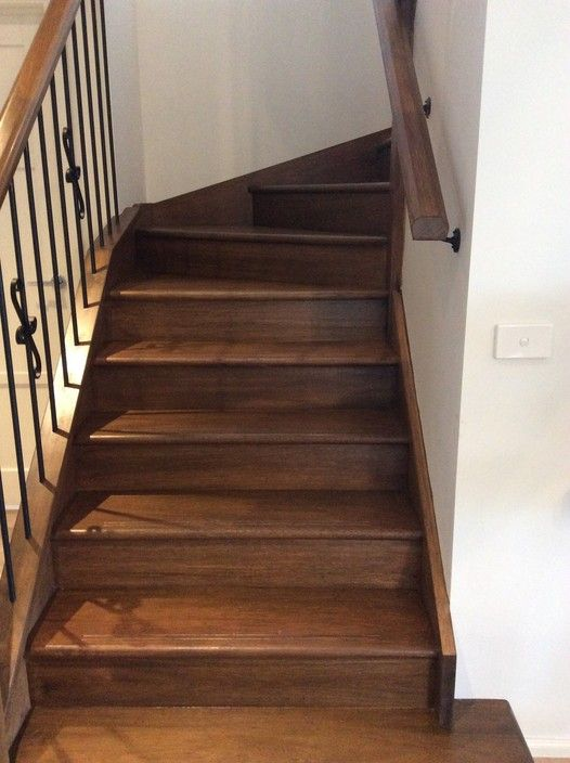 Stain finish on feature stair case in Hampton  - Coast to coast painting services, Painters, Brighton East, VIC, 3187 - TrueLocal