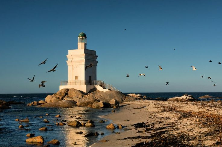 The charming lighthouse in Langebaan on the Cape West Coast.