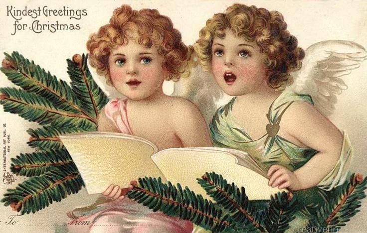 Опять старинные открытки. Рождественские с ангелами..: ♥ Creative NN. Блог Альбины Рассеиной. ♥