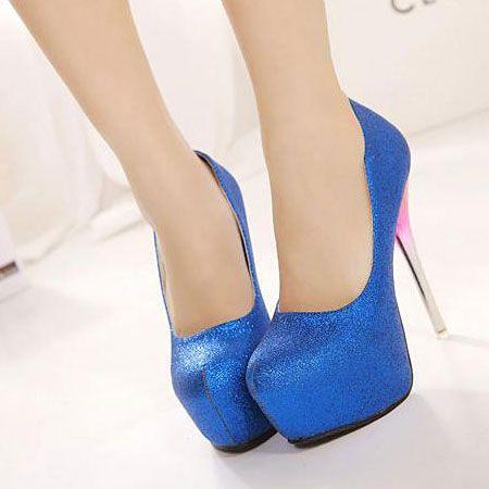 Appealing Round-Toe Platform Stiletto Heel Shoes