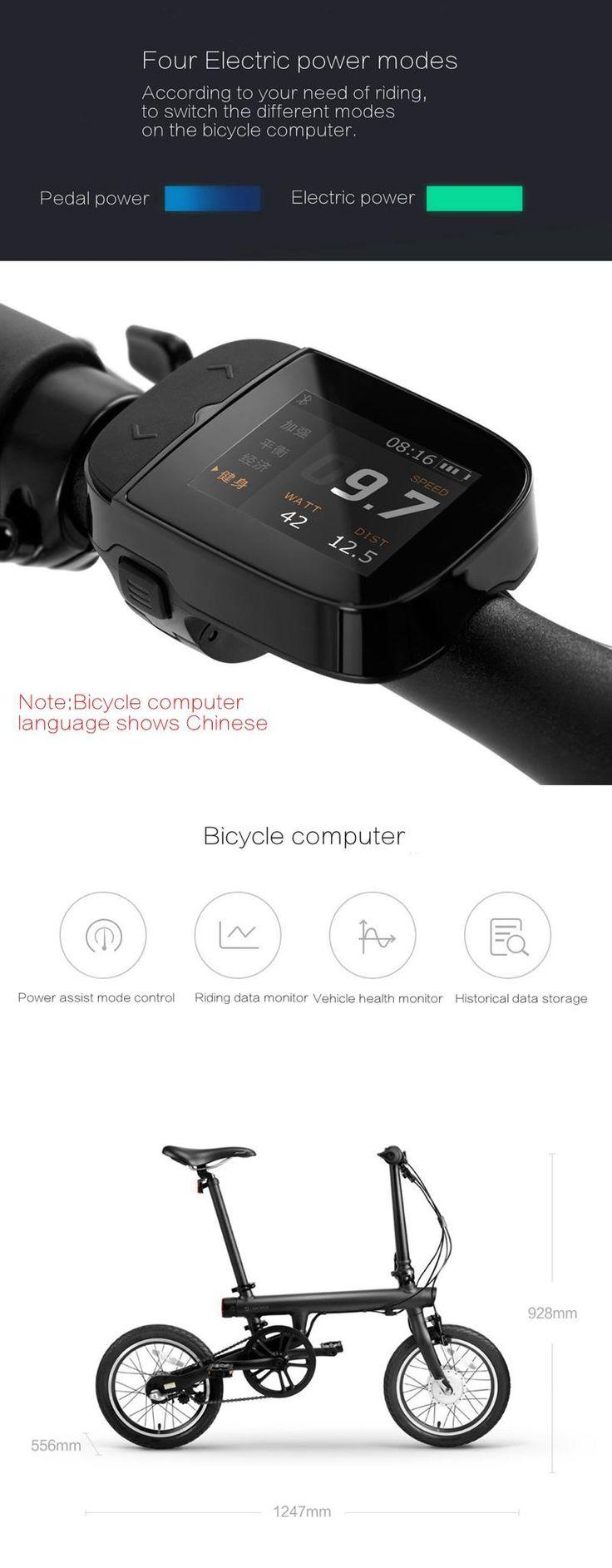 Xiaomi Smart Electric Power vouwfiets Bluetooth 4.0 Smart fiets met voor- en achterlicht Folding pedalen ondersteuning voor APP aluminiumlegering