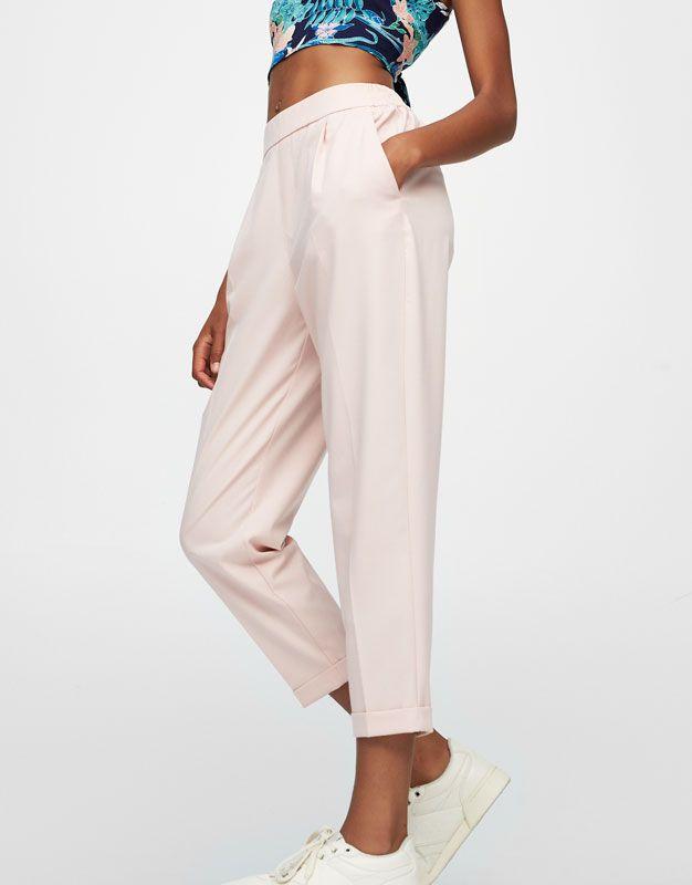 Pull&Bear - femme - vêtements - pantalons - pantalon jogger type tailoring - gris - 05681322-I2017