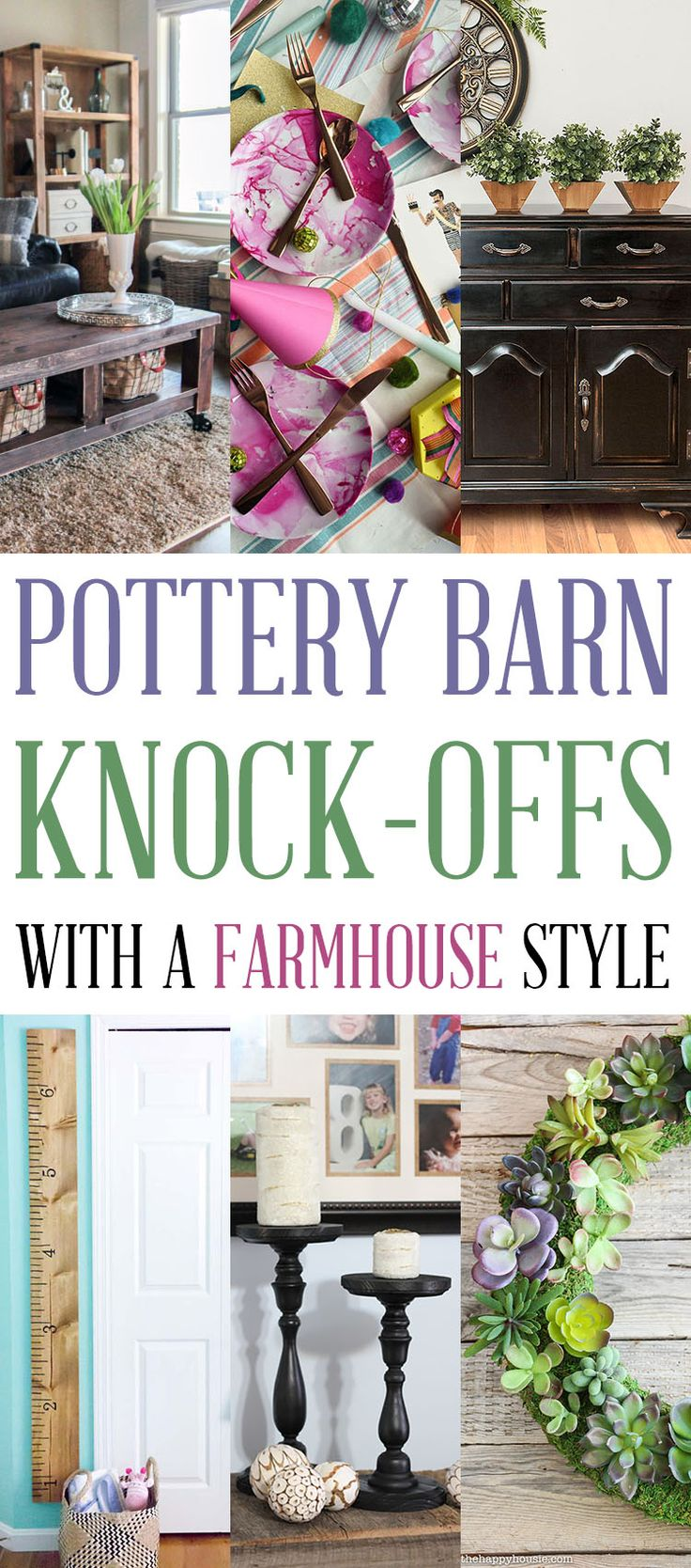 Pottery Barn Knock Offs with a Farmhouse Style