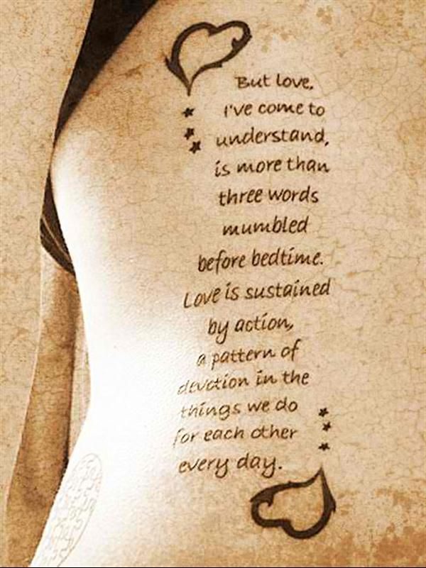 unique Tattoo Quotes - tattoo-quotes-but love i come to understand...