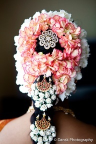 Floral hair braid for south indian brides