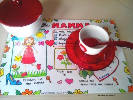 festa della mamma - tovaglietta plastificata