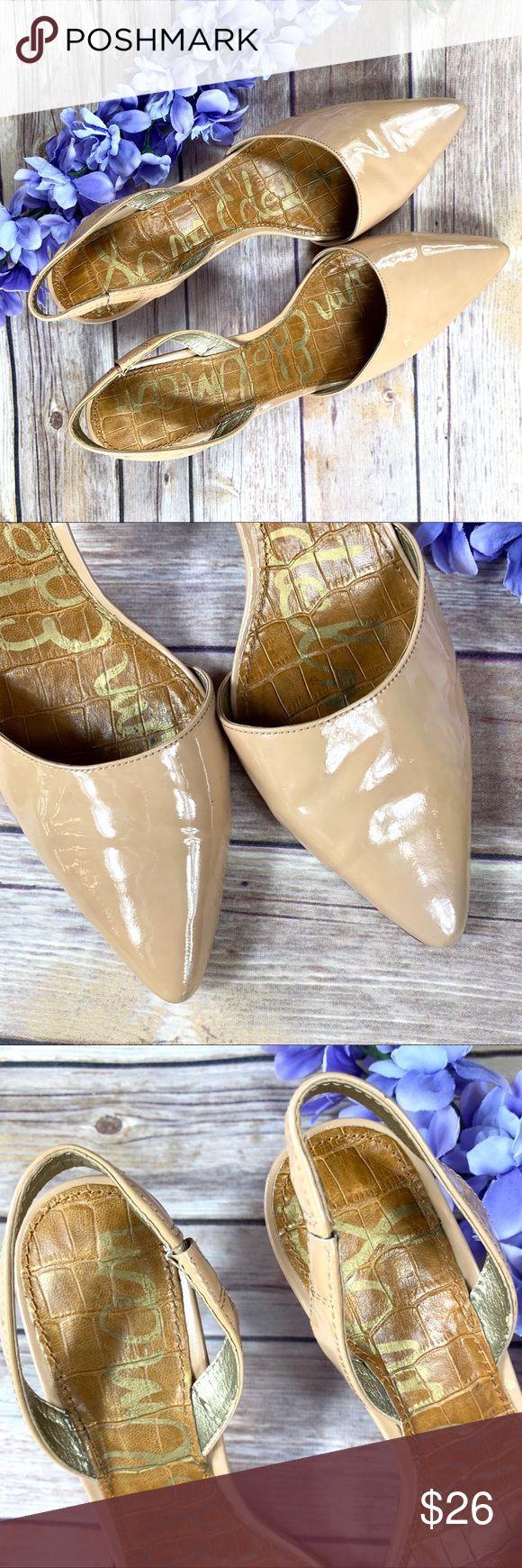 Sam Edelman Tan Patent Leather Slingback Heels 7.5 *Brand: Sam Edelman *Descript…