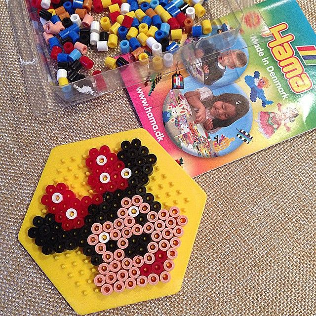 Minnie Mouse hama beads by yulianarai