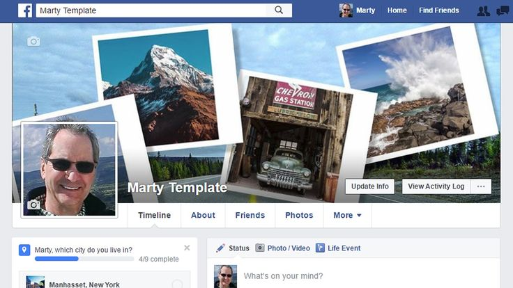Photoshop Tutorial: Create a Facebook Cover Photo Montage with a Seamless Profile Photo - http://tutorials411.com/2016/09/12/photoshop-tutorial-create-facebook-cover-photo-montage-seamless-profile-photo/