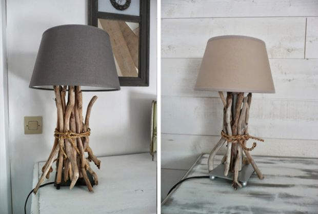 Get beachy by tying driftwood around IKEA's HEMMA or JANUARI lamp bases. TO make the base blend in, you can paint it beige-gray.  20 Excellent IKEA Hacks You Should Try | Mental Floss