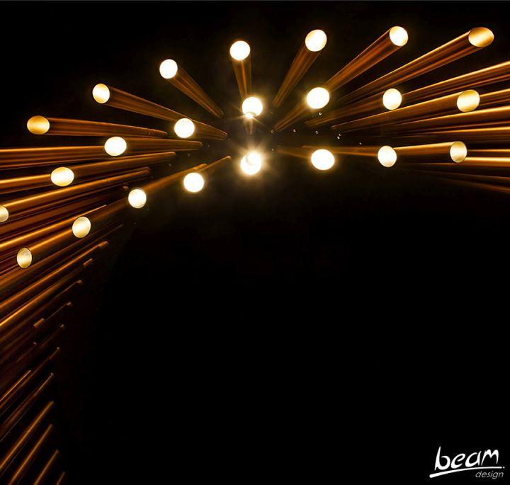 Custom lighting installation by BeamDesign, Israel