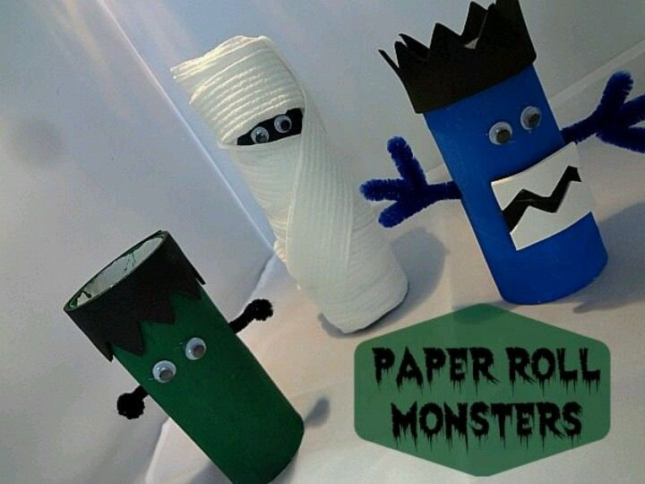 cardboard tube halloween