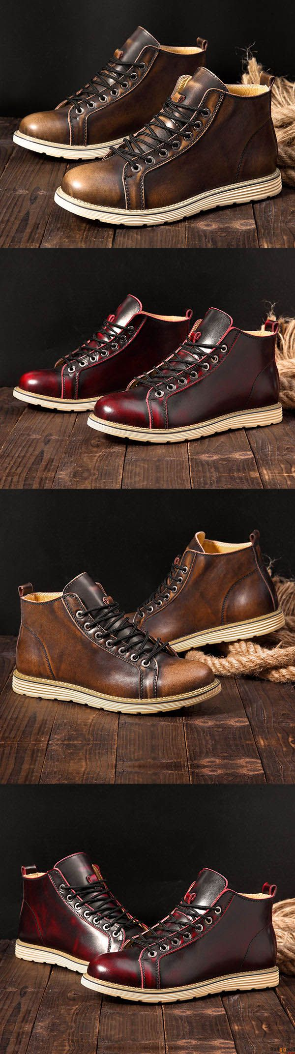US$59.99 + Free Shipping. 3 colors available. Men Leather Lace Up Casual Outdoor Short Boots. Men formal shoes, short boots, casual comfortable shoes, oxford shoes, boots, Fashion and chic, casual shoes, men's flats, oxford boots,leather short boots,