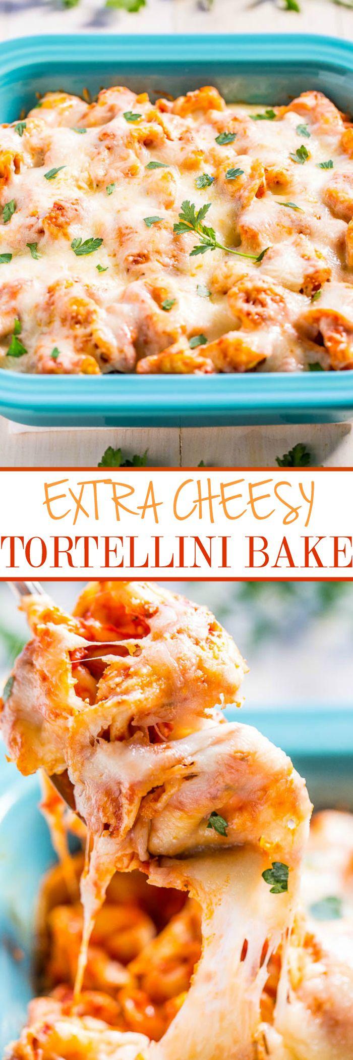 Extra Cheesy Tortellini Bake