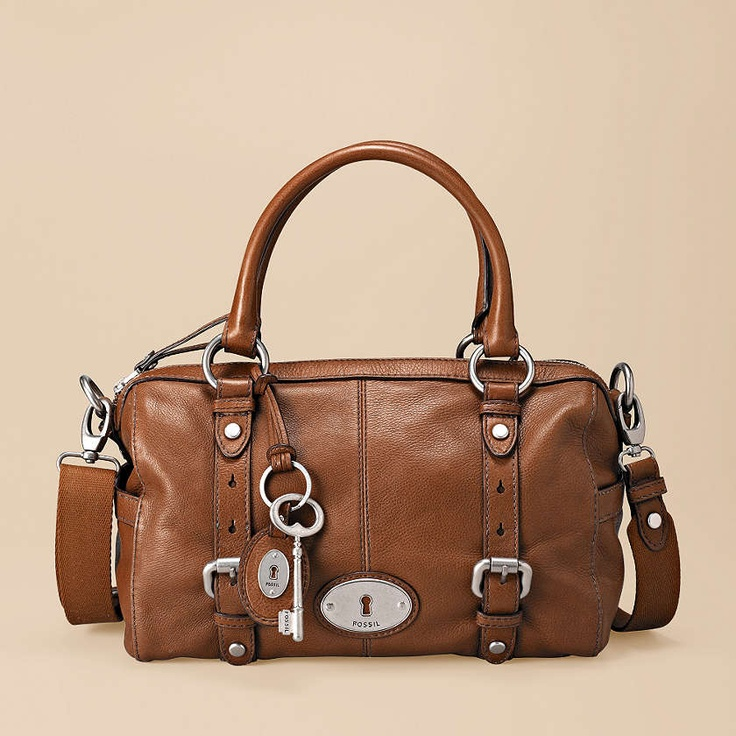 """Fossil Maddox Leather satchel. In MANY colors. Want the """"Grass"""", """"Rose"""", """"Sea Green"""", all of them! $198. Love the vintage look!"""