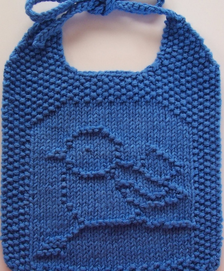 134 best Baby bibs knitted @ crocheted images on Pinterest | Baby ...