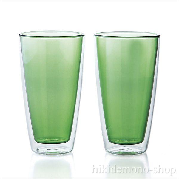 グラス(ガラス器) 食器≫Reposer(ルポゼ) ダブルウォール タンブラーセット グリーン