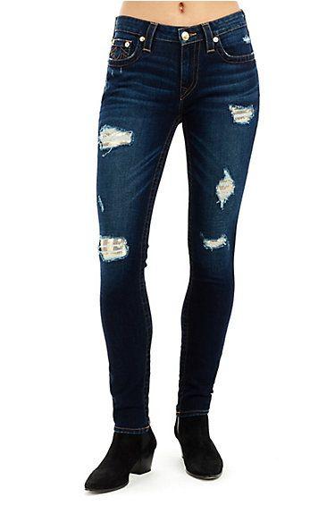 1ec40e05b6bf1 WOMEN'S SEQUIN CURVY SKINNY BROWN GOLD JEAN - True Religion | sweatpants• leggings | Gold jeans, Skinny fit jeans, Skinny