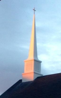 Church steeple in Rutland Massachusetts