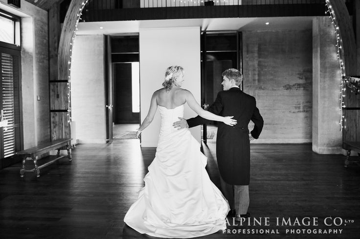 Practicing their first dance at The Rippon Hall, Lake Wanaka
