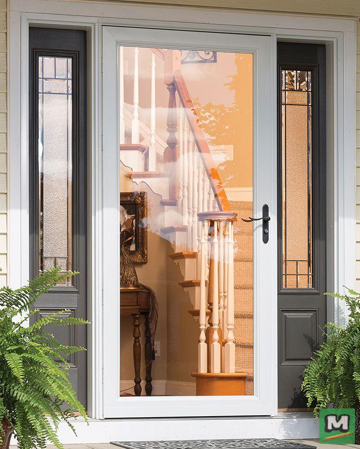 The Larson Lakeview Plus Storm And Screen Door Will Add Curb Appeal To Your Home This Door Offers T Front Storm Door Ideas Front Door With Screen Screen Door