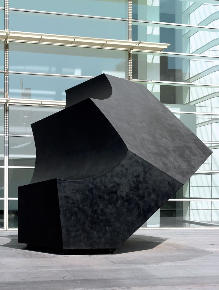 The Wave Oteiza, Jorge — 1998 Sculpture Patinated steel and polyurethane painting 770 x 415 x 340 cm MACBA Collection. MACBA Foundation. Gift of Rodés Family. Production of the work sponsored by Media Planning S.A.