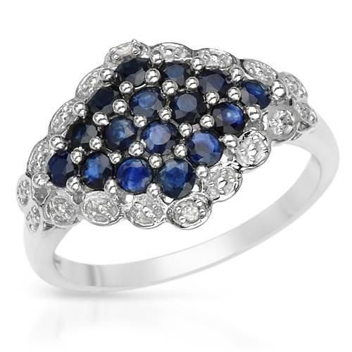 Sterling Silver Ring With Diamonds on #iDealSmarter