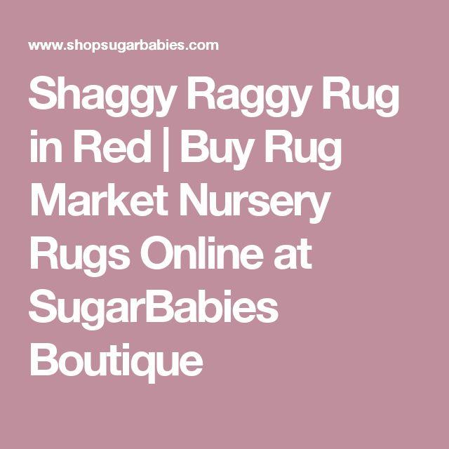 Shaggy Raggy Rug in Red | Buy Rug Market Nursery Rugs Online at SugarBabies Boutique