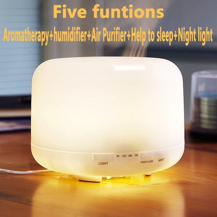 Amazon | 500MLアロマディフューザー、InGoo 7 LED カラー空気清浄機 超音波加湿器 ホーム、大きなベッドルーム、ベビールーム、オフィス、ヨガ、より多くの場所 (Multicolor) | InGoo | 加湿器