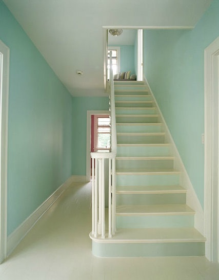 painted stair risers around the house pinterest. Black Bedroom Furniture Sets. Home Design Ideas