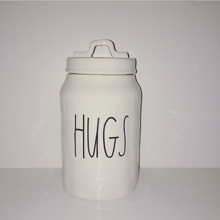 Rae Dunn HUGS Canister