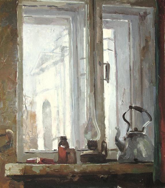 Яцута Евгений. Вид из окна мастерской на храм св. Мартина Исповедника