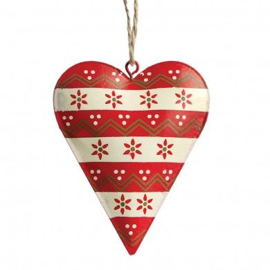Scandinavian Christmas Jumper Heart Decoration £2.95