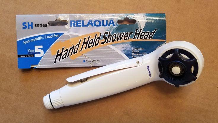 Relaqua High Pressure Shower Head for RV or Trailer Exterior Shower or Wet / Dry Bath - Review #rv #rvlife #rvliving #rving #rvmods #rvrepair #rvmaintenance #motorhome #gorving #rvtips #rvtricks #relaqua #rvshower