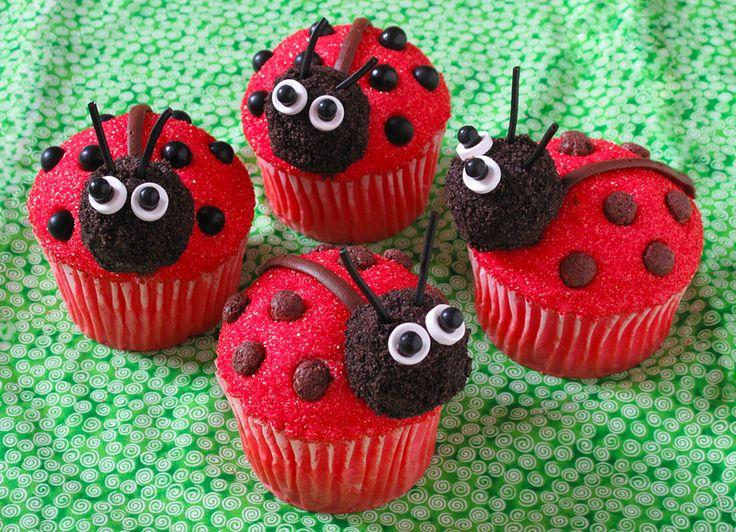 LOVELY LADYBUG CUPCAKES!!
