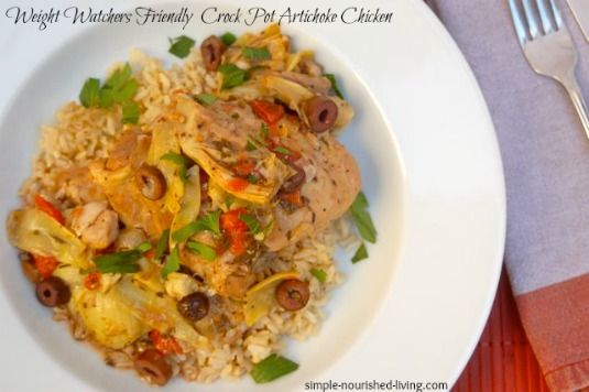 Delicious Crock Pot Artichoke Chicken