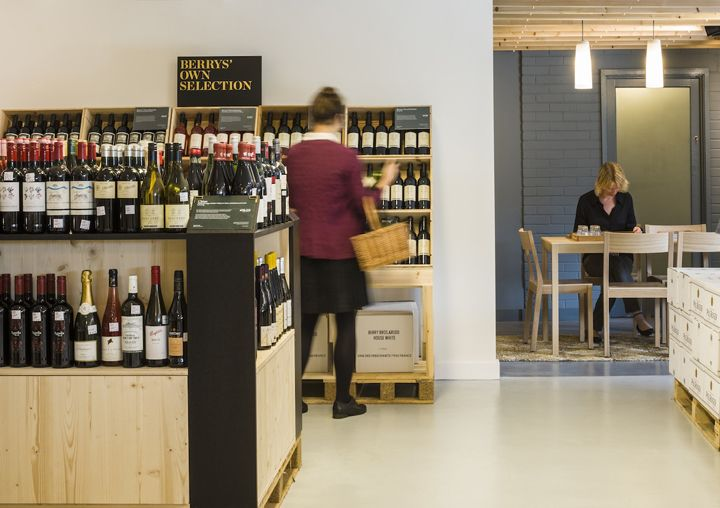 Berry Bros & Rudd warehouse shop by Urban Salon, Basingstoke   UK wine